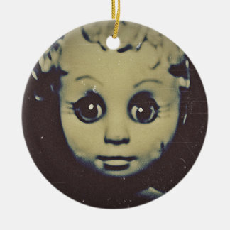 haunted doll products round ceramic decoration