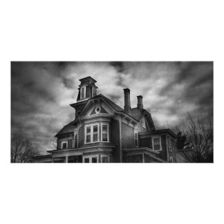 Haunted - Flemington, NJ - Spooky Town Personalized Photo Card