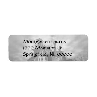 Haunted - Flemington, NJ - Spooky Town Return Address Label