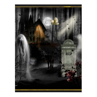 Haunted Halloween Postcard