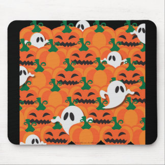 Haunted Halloween Pumpkin Patch Ghosts Mouse Pad