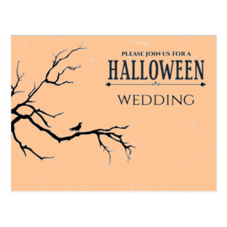 Haunted Halloween Wedding Postcard