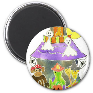 Haunted House 6 Cm Round Magnet