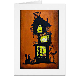 """Haunted House"" Card"