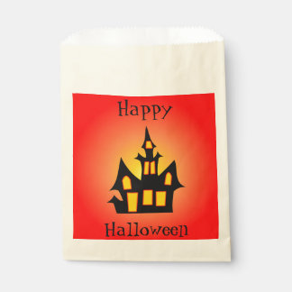 Haunted House Customizable Red Favour Bags