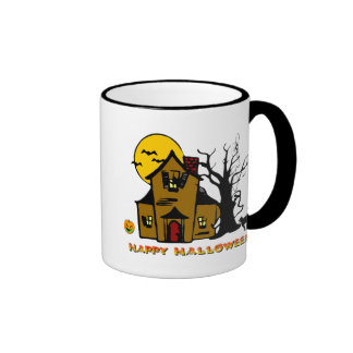 Haunted House Ghost Cat Mugs