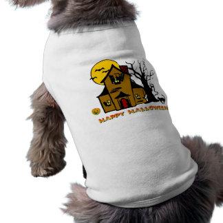 Haunted House Ghost Cat Sleeveless Dog Shirt