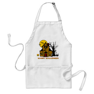 Haunted House Ghost Cat Standard Apron