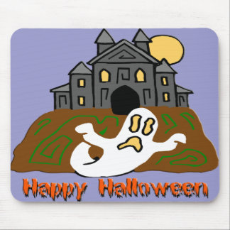 Haunted House Ghost Mouse Pad