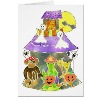 Haunted House Greeting Card