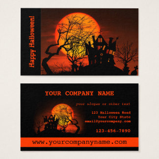 Haunted House Halloween Business Card