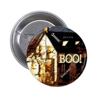 Haunted House Halloween Button