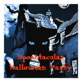 Haunted house Halloween party 13 Cm X 13 Cm Square Invitation Card