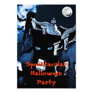 Haunted house Halloween party 9 Cm X 13 Cm Invitation Card