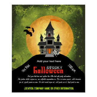 Haunted House Halloween Party Print