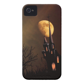 Haunted House Halloween Scene iPhone 4 Covers