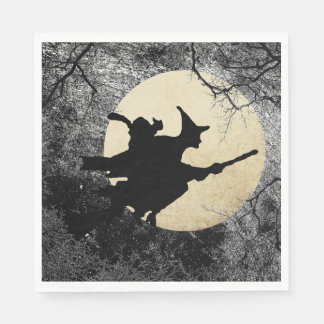 Haunted House Halloween Witch Napkins Disposable Serviette