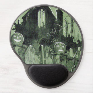 Haunted House Jack O' Lantern Ghost Gel Mouse Mat