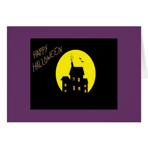 Haunted House Note Card