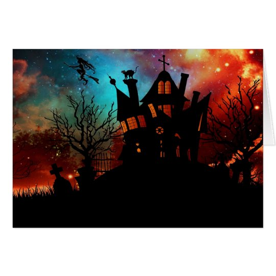 Haunted House on a Hill Card