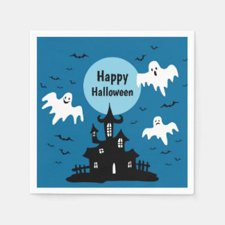 Haunted House Paper Napkin