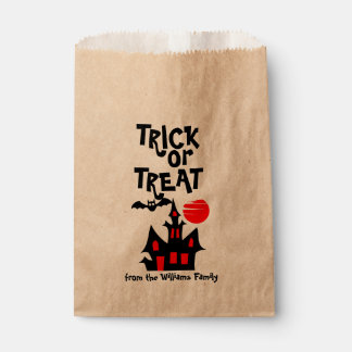 Haunted House Personalized Trick or Treat Favour Bags