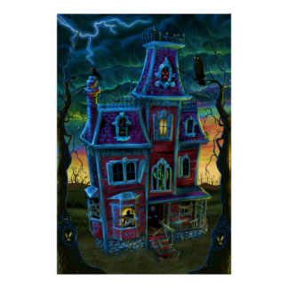 Haunted House Portrait Poster