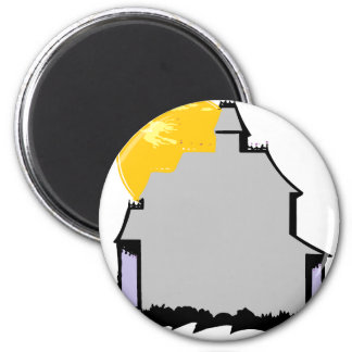 haunted house refrigerator magnets