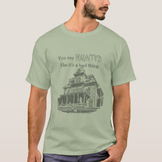 Haunted House Sketch T-Shirt