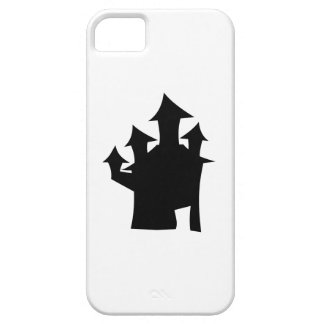 Haunted House with Four Towers. Black and White. iPhone 5 Covers