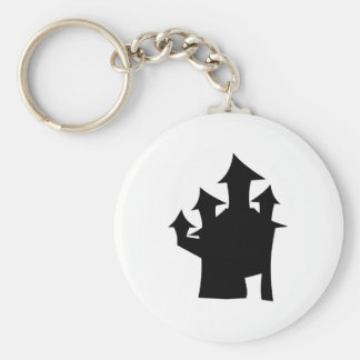 Haunted House with Four Towers. Key Ring
