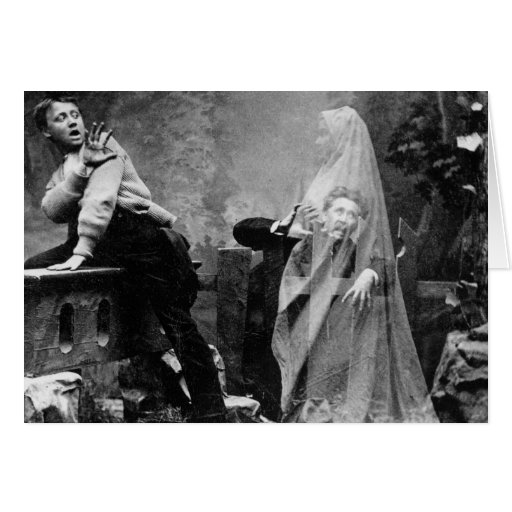 Haunted Lane - Vintage Ghost Photo 1880 Greeting Cards