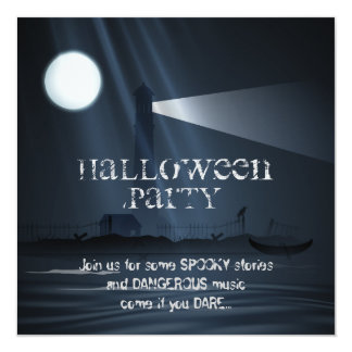 Haunted Lighthouse Halloween Party Invitation