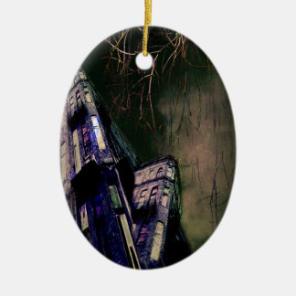 Haunted Mansion Ceramic Oval Decoration