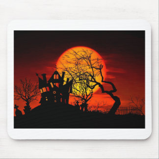 HAUNTED NIGHT, HAUNTED HOUSE! (Halloween) ~ Mouse Mat