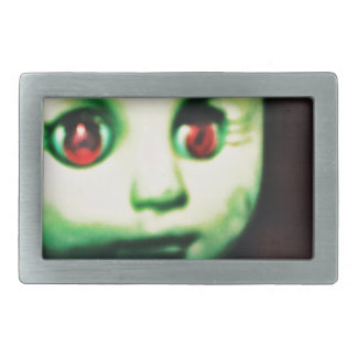 haunted red eyed doll products belt buckle