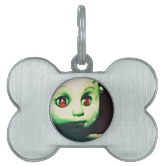 haunted red eyed doll products pet name tag