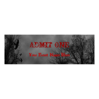 Haunted Sky Halloween Ticket Template Pack Of Skinny Business Cards