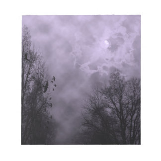 Haunted Sky Purple Mist Notepad