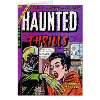 """Haunted Thrills"" Birthday Card"