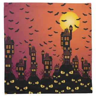 Haunted Village Napkin