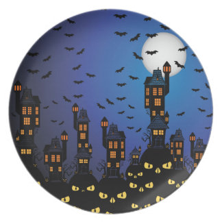 Haunted Village Party Plate
