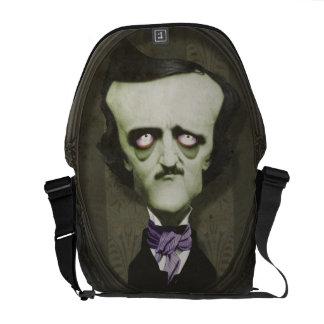 Haunted Zombie Edgar Alan Poe Messenger Bag