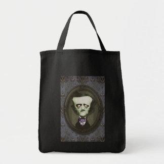 Haunted Zombie Edgar Alan Poe Shopping Bag