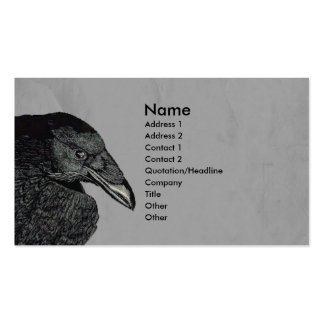 Haunting Black Crow Face Gray Pack Of Standard Business Cards