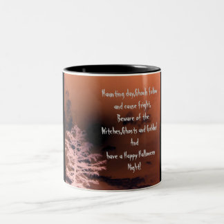 Haunting day,Ghouls follow and cause...Mug Two-Tone Mug