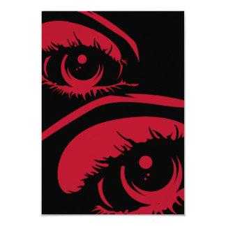 Haunting Eyes RSVP Card 9 Cm X 13 Cm Invitation Card