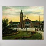 Hauptbahnhof, Wiesbadem, Germany Vintage Poster