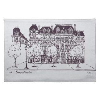 Haussmann Architecture   Champs Elysees Placemat