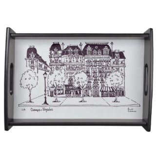 Haussmann Architecture | Champs Elysees Serving Tray